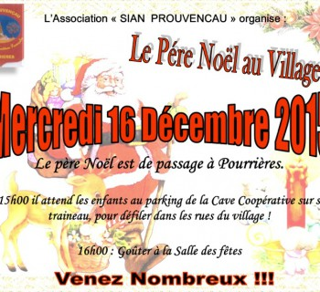 affiche pere noel 2015