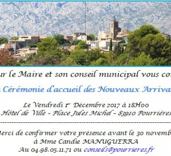 invitation Nvx arrivants